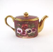 Ayshford Fine Bone China Miniature Teapot - Summer Pansy - Staffordshire England