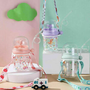 Whale Water Spray Cup Child Straw Water Cup Drops-Resistant Jug Bottle 260ml^