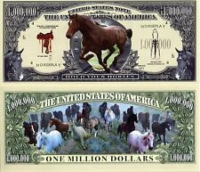 Horse New-Style Million Horses Dollar Bill Collectible Funny Money Novelty Note