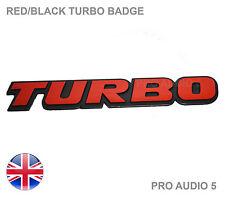 Big Red Turbo insignia del coche-Subaru Ford Toyota Vw Mitsubishi Mazda Camión Van-Uk