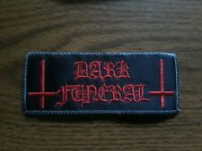 DARK FUNERAL,SEW ON RED WITH GRAY EDGE EMBROIDERED
