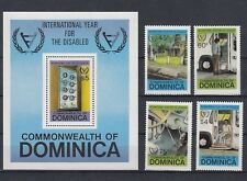 Dominica 748 - 51+ Block 71 Year of the Disabled (MNH)