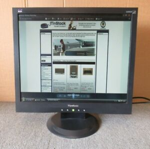"ViewSonic VA903B VS11282 19"" Black LCD TFT Flat Screen Monitor VGA"