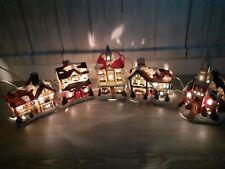 Light Up Christmas Scene Vintage Village Mains Illuminated Musical Decoration
