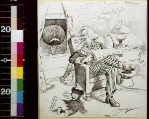 Unterrified,Halloween,Jack-o-lantern,Uncle Sam,Business Panic,Bear,1907 1129