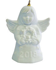 2018 GOEBEL ANNUAL ANGEL BELL 43rd Edition WHITE BISQUE FREE 1st CLASS USPS -NEW