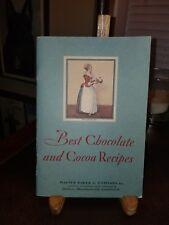 Vintage 1931 Walter Baker Co. Recipe Booklet