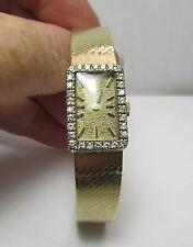 "Estate 14K YG 6""  .30 CTW Diamond Lady Rolex Watch 35.6 Grams 1/2"" Wide"