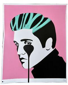 Pure Evil - 'Pure Elvis' Pink & Green Print (Elvis Presley Nightmare)