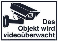 Videoüberwachung DSVGO Hinweisschild Warnaufkleber Kamera Größe15x10,5cm