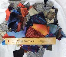100% Wool Tweed Fabric Offcuts & Scraps Bundle/Mixed Lot 500 gm 🌺 Harris Tweed