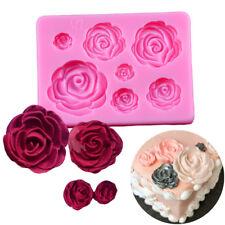 Rose Flowers Silicone Mold Sugarcraft Chocolate Fondant Cake Decor Baking Tools
