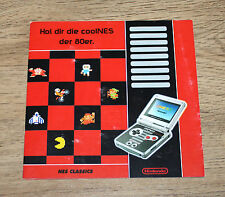 Nintendo Werbung Ad Flyer Game Boy Advance NES Classics Mario Donkey Kong Zelda
