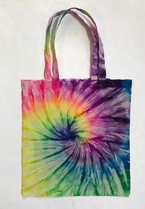 *New* Handmade Tie- Dye Rainbow Tote Bag, 30 Years Experience!