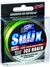 NEW Sufix 832 Advanced Ice Braid 8lb Test 50yd Neon Lime 671-008L