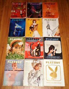Vintage 1963 PLAYBOY Men's Magazine Lot of 12 Full Year!