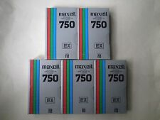 5 Maxell L-750 EX SEALED Beta Format Video Tape Cassettes
