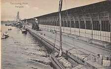 Tandjoeng Priok Indonesia Hangars Docks Antique Postcard J65180