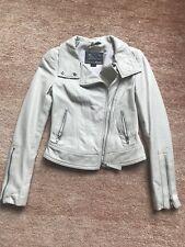 Mackage Exclusively for Aritzia cream color Leather Moto Biker Kenya Jacket xxs