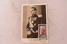 Monaco maximum card carte postale poste aerienne Prince Rainier FDC 1950