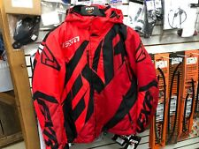 FXR MENS CX SNOWMOBILE JACKET RED/Maroon/Black SIZE LARGE 180020-2325-13
