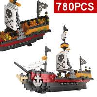 780Pcs/Set Building Blocks Pirate Caribbean Ship EDC Toys Christmas Gifts