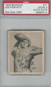1948 Bowman #71 Les Horvath RC Rookie Signed Autographed PSA DNA