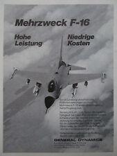 4/1978 PUB GENERAL DYNAMICS F-16 FIGHTING FALCON US AIR FORCE ORIGINAL GERMAN AD