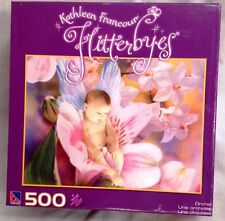"""Kathleen Francour Flutterbyes 500-piece jigsaw puzzle, """"Orchid.""""  Unopened"""