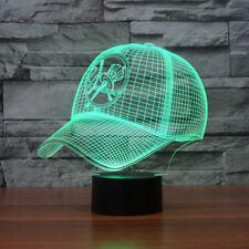 Cap optical 3D New York Yankees team cap usb led table night lights lamp gift