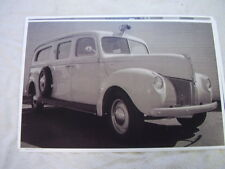 1940 FORD AMBULANCE  11 X 17  PHOTO  PICTURE