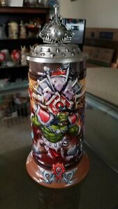 """WORLD WARCRAFT """"BLOOD OF THE HORDE"""" LIMITED EDITION STEIN # 1"""