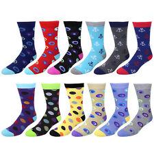 New Design Falari Men Casual Dress Socks Cotton 12-Pack Assorted Color