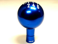 FORD MUSTANG 6 SPEED MANUAL THREADED ROUND BALL SHIFT KNOB & BOOT RETAINER BLUE