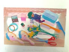 Silk Screen Print On Original Art Paper, Dated '90, Signed By Artist. (2)