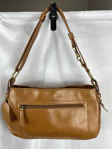 Derek Alexander Brown Leather Handbag Purse Tan Shoulder Bag