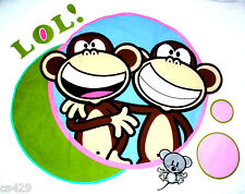 "23"" BOBBY JACK MONKEY OMG SET CHARACTER WALL SAFE FABRIC DECAL CUT OUT"