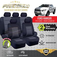 Premium Seat Covers for Ford Ranger PX MK2 MK3 XL XLS XLT Dual Cab 06/2015 - On
