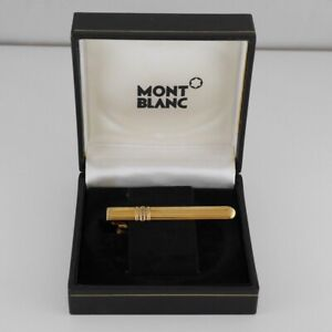 Montblanc Solitaire Vermeil 925 Tie Clip Clasp with Box FREE SHIPPING WORLDWIDE