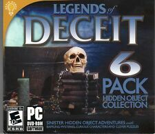 GREED THE MAD SCIENTIST Hidden Object LEGENDS OF DECEIT 6 PACK PC Game DVD NEW