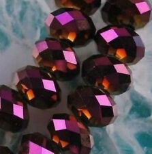 140pcs Purple red Faceted Crystal Gemstone Beads 6X8MM LL001