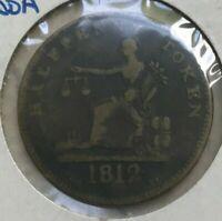 1812 Canada 1/2 Half Penny Token