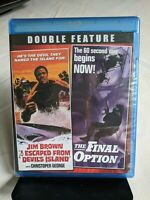 I ESCAPED FROM DEVIL'S ISLAND / THE FINAL OPTION (Blu-ray Disc, 2014)