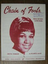 PARTITION MUSICALE BELGE ARETHA FRANKLIN CHAIN OF FOOLS
