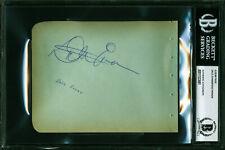 Dale Evans & Fess Parker Authentic Signed 4.5x5.75 Album Page BAS Slabbed