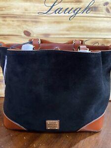 Dooney & Bourke Suede Leather Brenna in Black