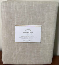 Pottery Barn Emery Linen GROMMET BLACKOUT Drape Curtain (1) ~ 50 x 96 ~ Oatmeal
