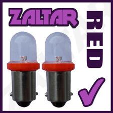 2 X 233 Led Red Rear Bulbs Ba9s Tw4 Piaggio-vespa Ciao 25 Px (M7e3t)