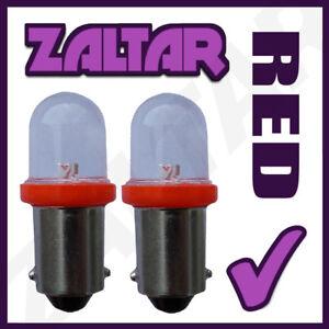 2 X 233 Rouge LED Arrière Ampoules Ba9s Tw4 Piaggio Vespa Ciao 25 Px (M7e3t)