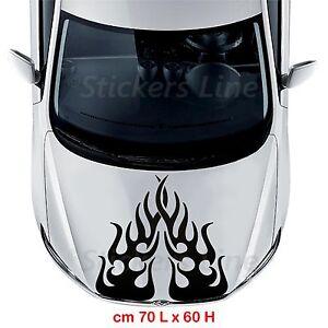 Adesivo Fiamma 1 COFANO cm 70x60 auto tuning adesivi fiamme car stickers decals
